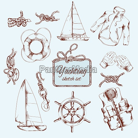 yachting sea travel and sport decorative