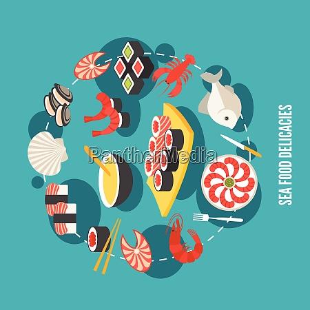 sea food fish menu restaurant japanese