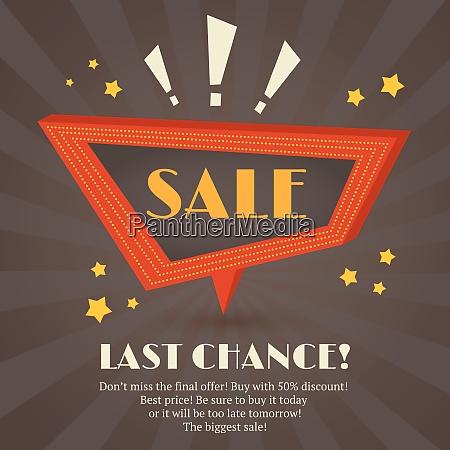 retro sale discount last chance speech