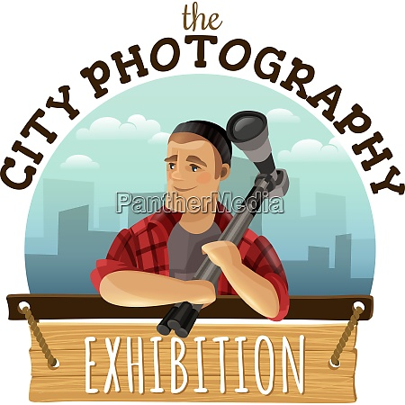 unique city photography custom logo design