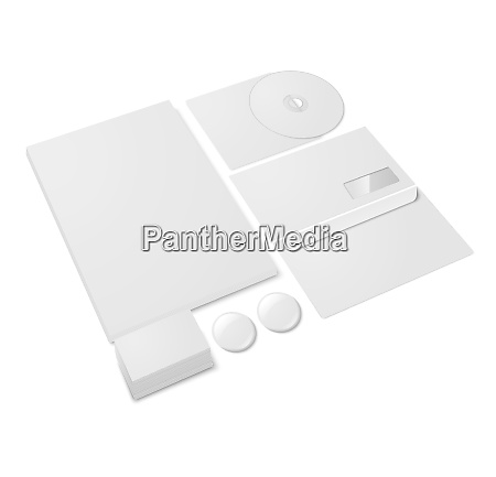 blank paper office stationery template set