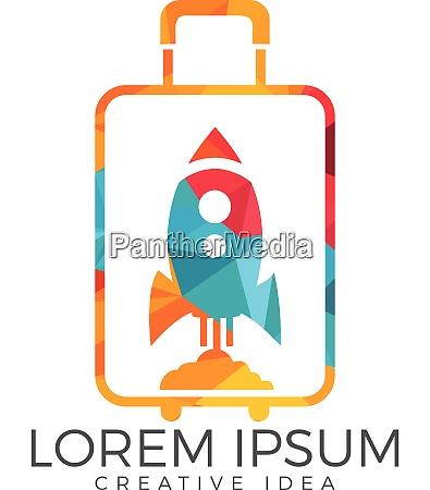 rocket suitcase tour of travel logo