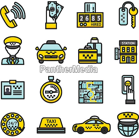 taxi public passenger transportation business icon