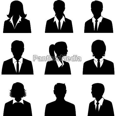 business avatars set with males and