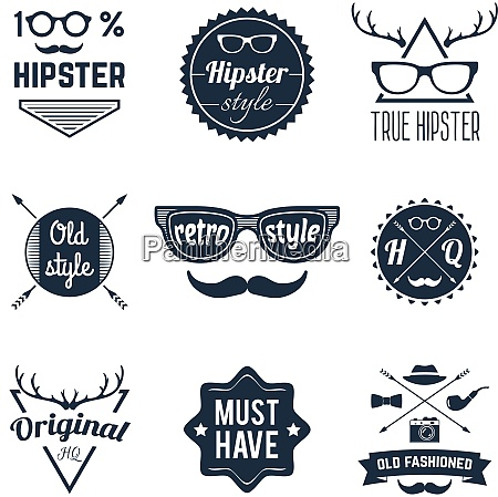 hipster old retro style original fashioned