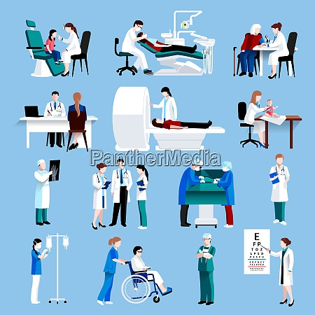 medical doctor and nurse patients treatments
