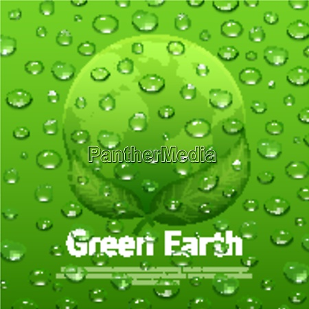 green earth eco poster with globe