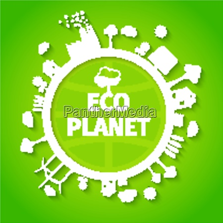 save nature decorative eco planet clean