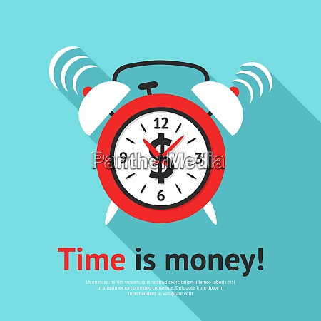 retro alarm clock business poster with