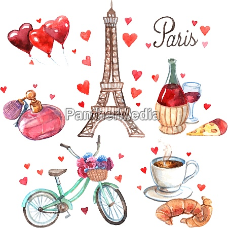 paris love romance heart symbols icons