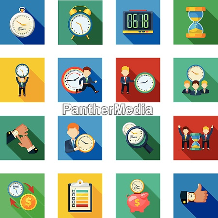 time management money saving with hourglass