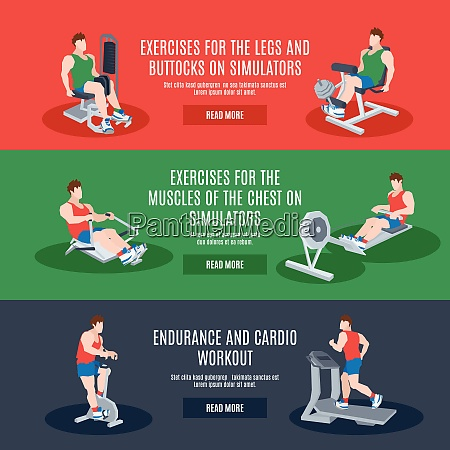 exercise machines set with legs chest