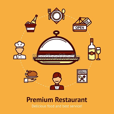 premium restaurant concept with food and