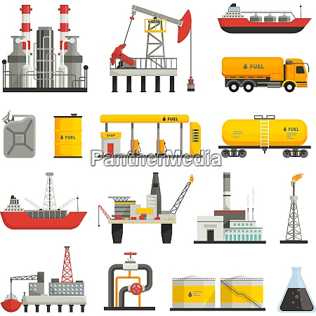 different transports constructions and factories of