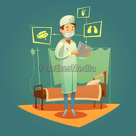 doctor and high tech healthcare online