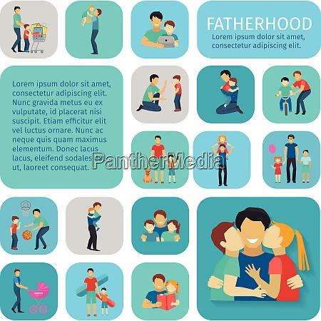 fatherhood sport and leisure time flat