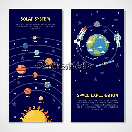 solar system and space exploration concept
