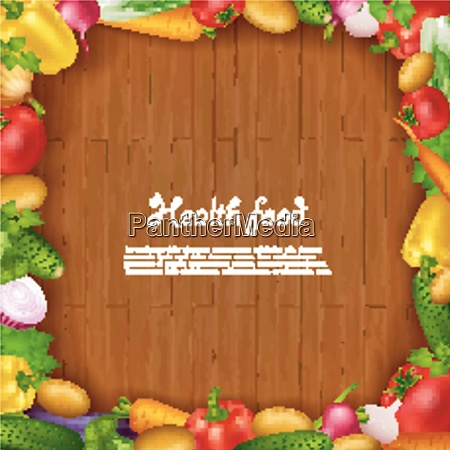 health food background with colorful fresh