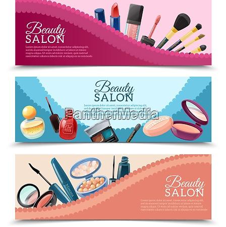 beauty salon advertisement 3 horizontal banners