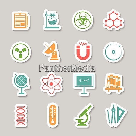 physics chemistry science research stickers