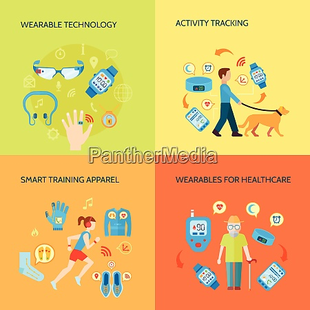 smart technology concept wearable technology vector