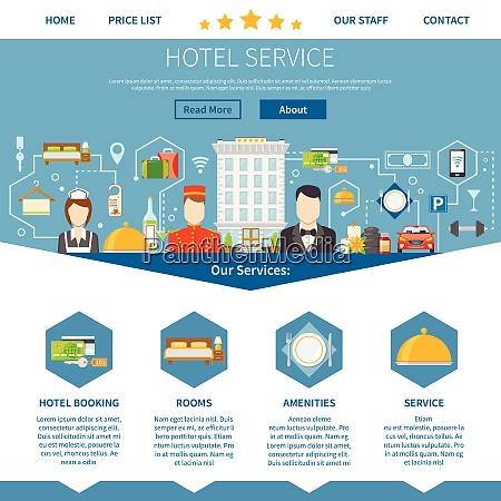 hotel service page hotel service design