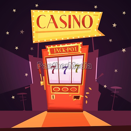 sparkling casino with jackpot slot machine