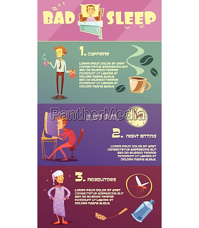 color infographic depicting reason bad sleep