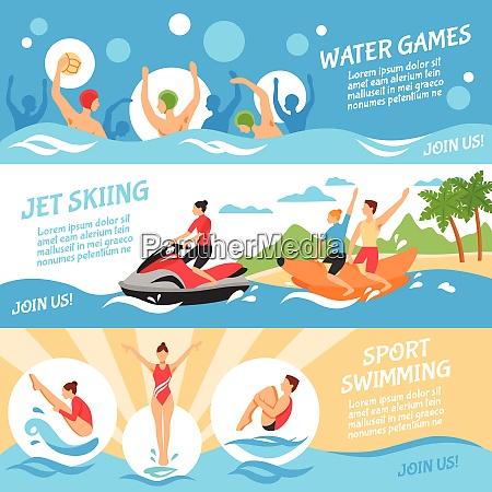 water sport flat concept water sport