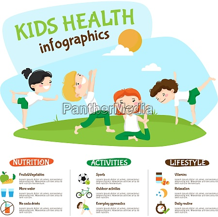 healthy lifestyle tips for kids infographic