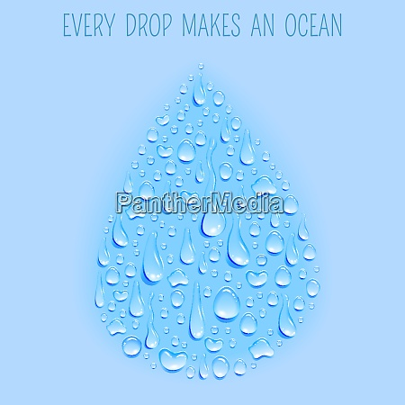 fresh ecologically clean natural water cycle