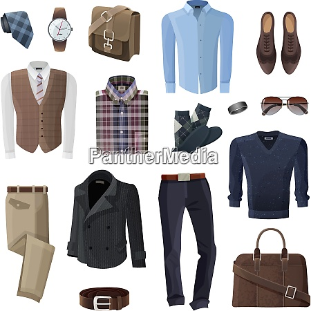 flat fashion formal wear and accessories