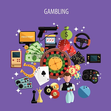 gambling and games concept with roulette