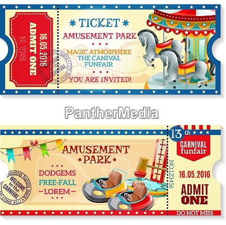 two invitation tickets to carnival in