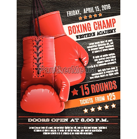 boxing champ poster with realistic red