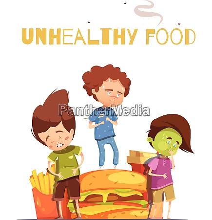 unhealthy junk food harmful effects warning