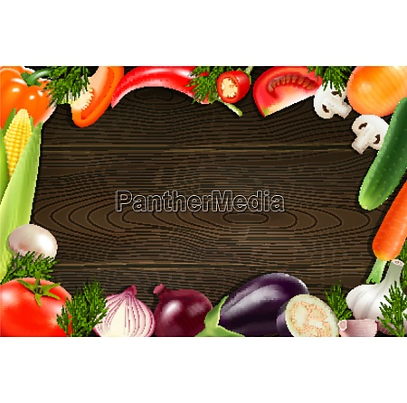 brown wooden background with frame composed