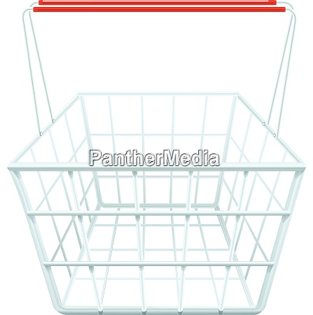 shopping basket for shopping in a