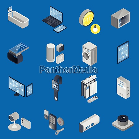 colored iot internet of things isometric
