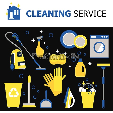 cleaning equipment collection with hoover iron