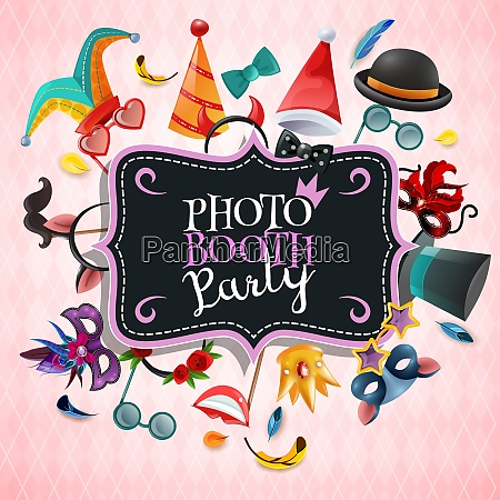 photo booth party background with vintage