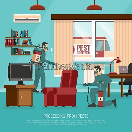 professional interior pest control service team