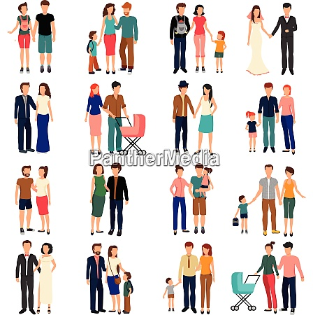 heterosexual couples and families with children
