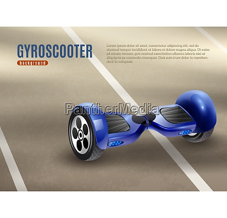 realistic self balancing gyro two wheeled