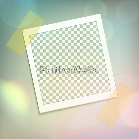 colored photo frame realistic composition with