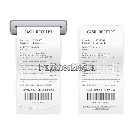 sales services printed cash receipt coming