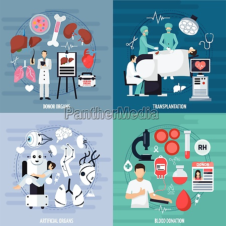 transplantation 2x2 design concept set of