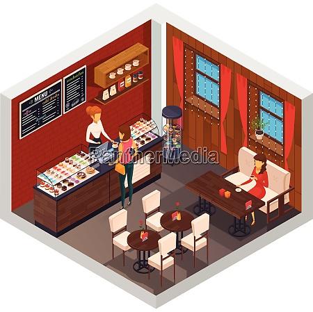 cafe interior restaurant pizzeria bistro canteen