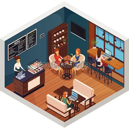 internet cafe interior restaurant pizzeria bistro