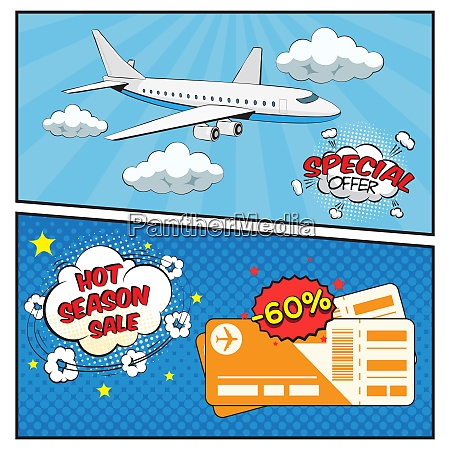season sale of air tickets comic